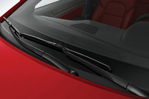 Closer view of aero blade wipers